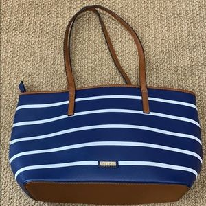 Aldo Blue and white striped purse